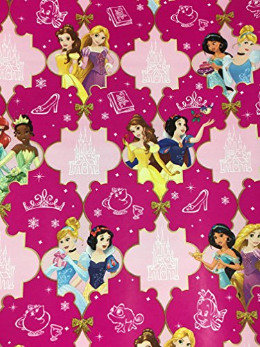 Disney's Princesses Christmas Gift Wrapping Paper --20 Square