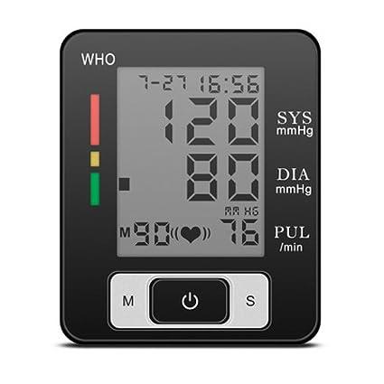 TensióMetro Digital De MuñEca, HipertensióN Color De La Pantalla De Alerta, Dos Modos De
