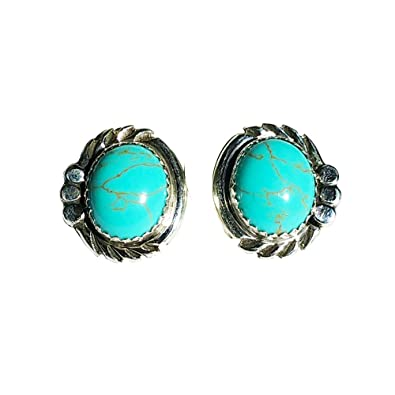 genuine tiny s turquoise earrings sterling stud silver