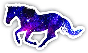 "Horse Running Galaxy Sticker - Laptop Stickers - 2.5"" Vinyl Decal - Laptop, Phone, Tablet Vinyl Decal Sticker"