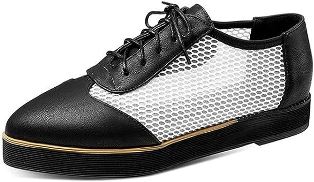 Femmes élégant Baskets à Lacets Casual Cuir Plateforme Talon Compensé Chaussures College
