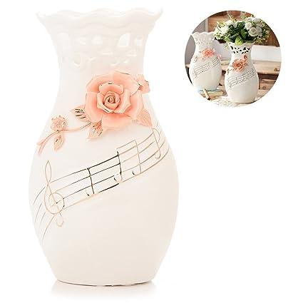 Amazon Large White Ceramic Flower Vases106 Oval Tall