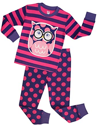 Amazon.com: Girls Pajamas Children Christmas Sleepwear Toddler Owl ...