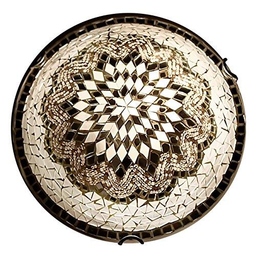 ON SALE Art-Win Lighting W10030 White Handmade Turkish Mosaic Ceiling Lamp (Sale Mosaics For)