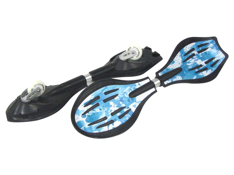 MAXOfit Waveboard Pro Close Mini Ice, Bis 129 Kg mit Leuchtrollen und Tasche - Monopatín de waveboard (129 kg) 15002