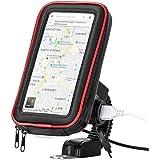 Suporte com tomada Carregador USB de Celular Impermeável para moto scooter motoboy motocicleta Universal Smartphone GPS 6 pol