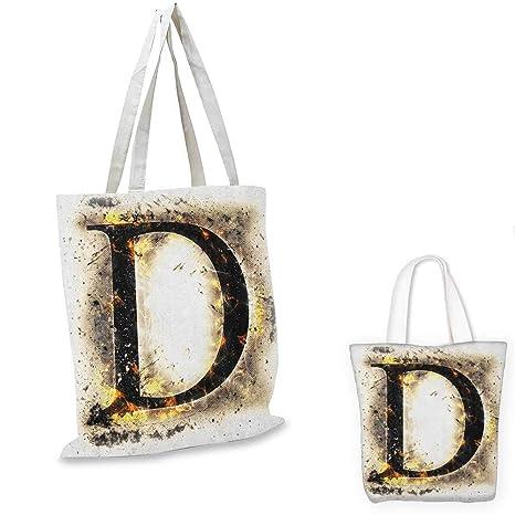 Amazon com: Letter D shopping tote bag Evil Blazing