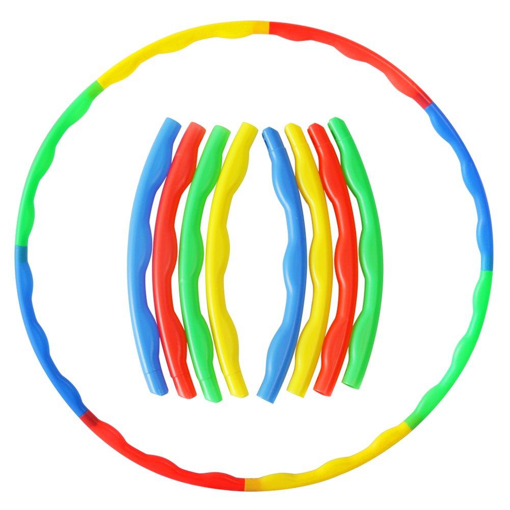 Akokie Hula Hoop Kids, Hoop Kit Game, Outdoor Toys Garden Ring Dia 75 CM Play for Girls Boys 3 4 5 6 Years Old