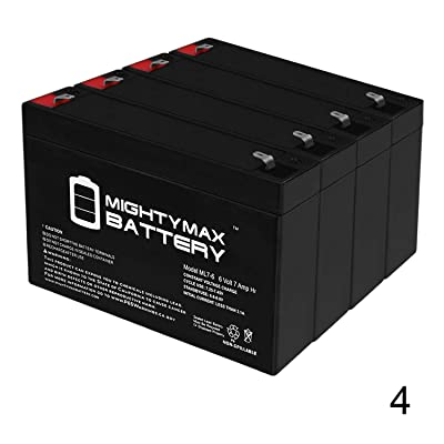 Mighty Max Battery 6V 7Ah G670 GP672 ES7-6 LC-R067R2P PS-670 Battery - 4 Pack Brand Product : Sports & Outdoors