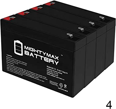 2 Pack SPS Brand 6V 7Ah Replacement Battery for B/&B HR9-6 UPS