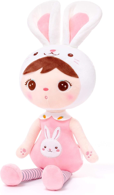 Gloveleya Muñeca de Peluche muñeca de Trapo Peluche Regalo de niña Suave y Seguro para Jugar - Serie Kepple - Conejo