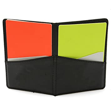 daa6f4c247d Football Leather Referee Wallet With Red And Yellow Card: Amazon.co ...