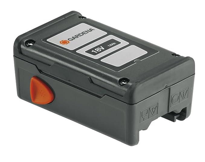 Cargador rápido QC18 de GARDENA: accesorio para los equipos con batería de 18 V de GARDENA, carga más rápido que un cargador normal, indicador LED de ...
