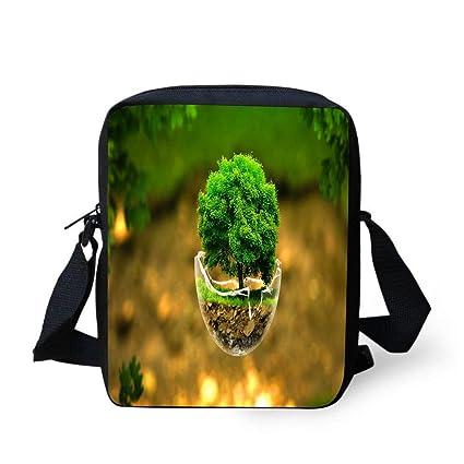 40e518204c38 Amazon.com: WEKJNskeee Little Tree Abstract Fantasy Custom Crossbody ...