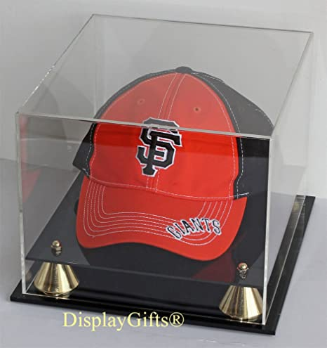 Amazon Com Baseball Cap Hat Display Case Stand Uv Protection No
