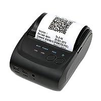 Redlemon Mini Impresora Térmica Portátil Bluetooth, Inalámbrica, para Tickets y Recibos POS PDV, 58mm, Compatible con Windows, iOS, Android y más
