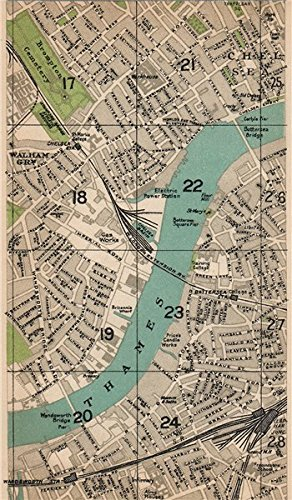 Amazon london sw walham green chelsea brompton clapham walham green chelsea brompton clapham junction wandsworth 1927 old map reheart
