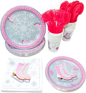 Ice Skating Party Supplies Pack (113+ Pieces for 16 Guests!), Ice Skating Party, Ice Skate Tableware