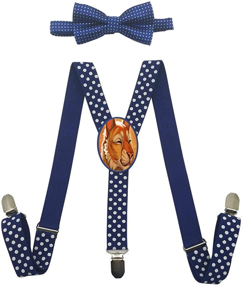 Smiling Plush Tiger Childrens Fashion Adjustable Y-Type Suspension Belt Suit