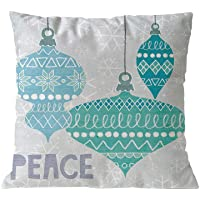 Merry Christmas Pillowcase❤️ Cushion Cover Case Throw Pillow Covers Custom Zippered Square Pillowcase 18x18