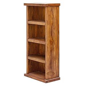 Angel Furniture Space Saver Simply Designed Sheesham Wood Bookshelf (Honey)