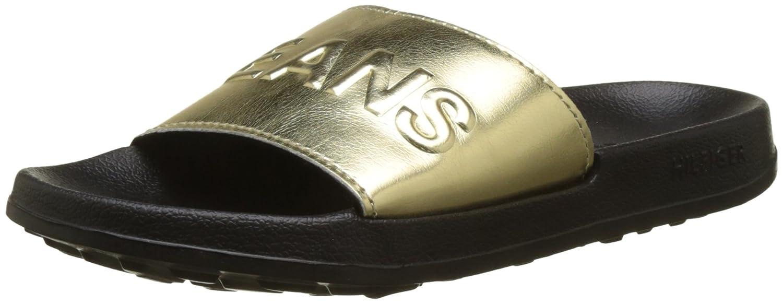 Hilfiger Denim Tj Metallic Pool Slide, Zapatos de Playa y Piscina para Mujer, Plateado (Silver 000), 35/36 EU