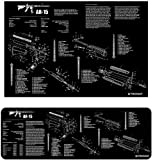 Ultimate Arms Gear AR15 AR-15 AR 15 M4 M16 Gunsmith & Armorer's Poster 24'' x 36'' + Cleaning Work Tool Bench Gun Mat Military Weapon Rifle Schematics Diagram for Assembly and Disassembly