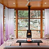 Outdoor Indoor Gradient Ombre Sheer Curtain Rod Pocket with 1″ Header Violet 84″ W X 96″ L Tulle Gradual Drapes (1 Panel) ChadMade Review