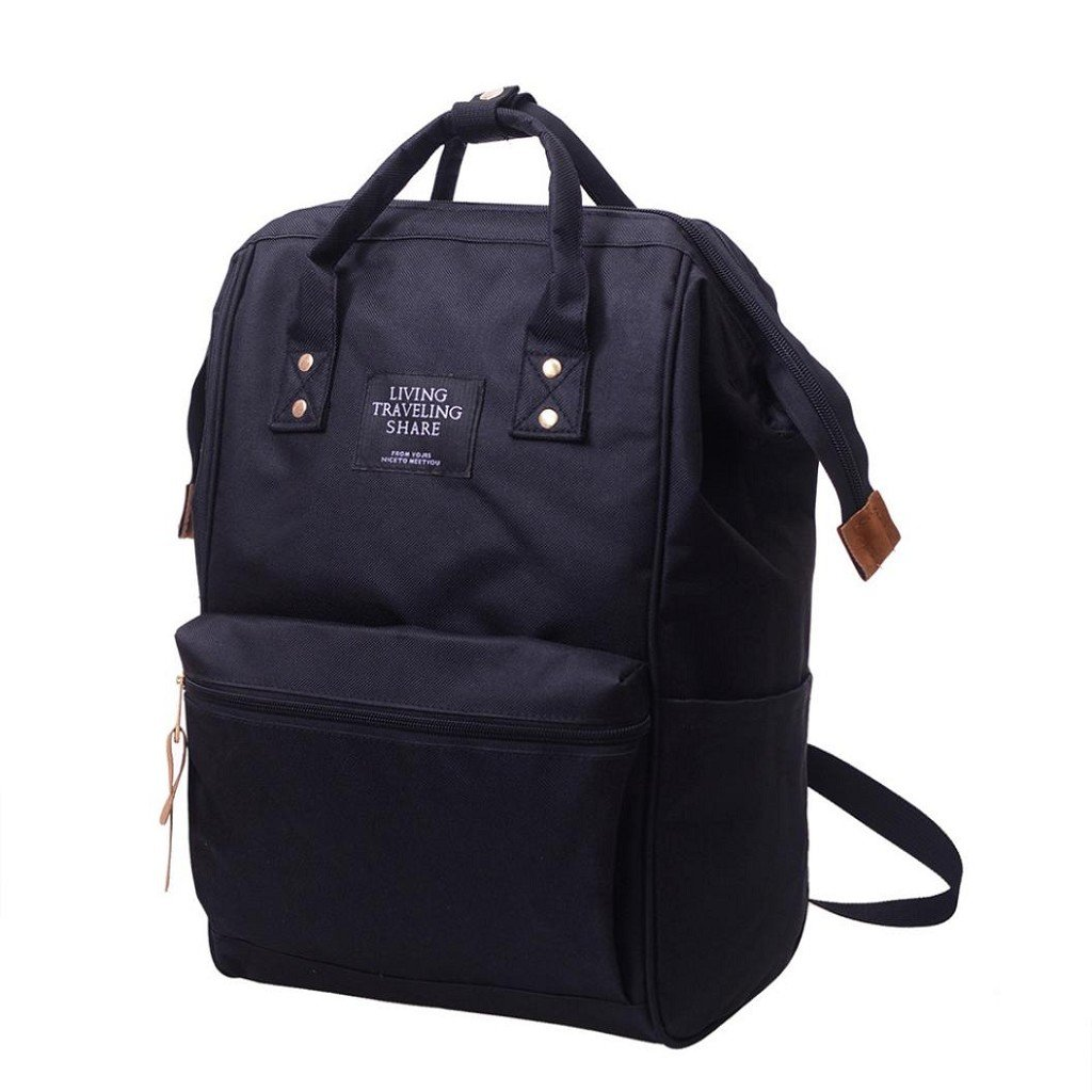 Creazrise Women Backpack ,Unisex Solid Color TravelBackpack Campus Backpacks For Women (Black) by Creazrise (Image #2)
