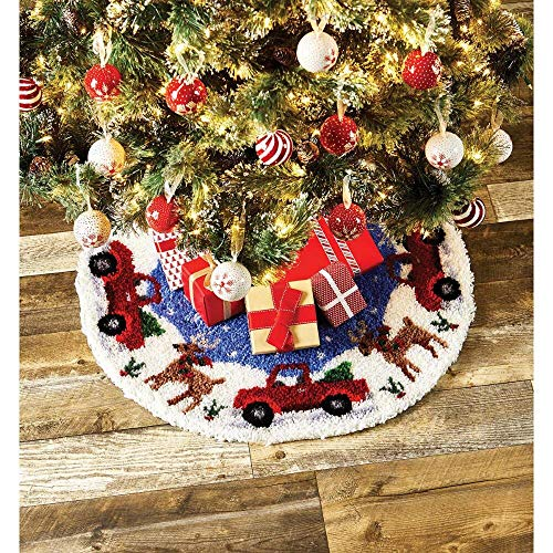 Herrschners Woodland Christmas Tree Skirt Latch Hook Kit