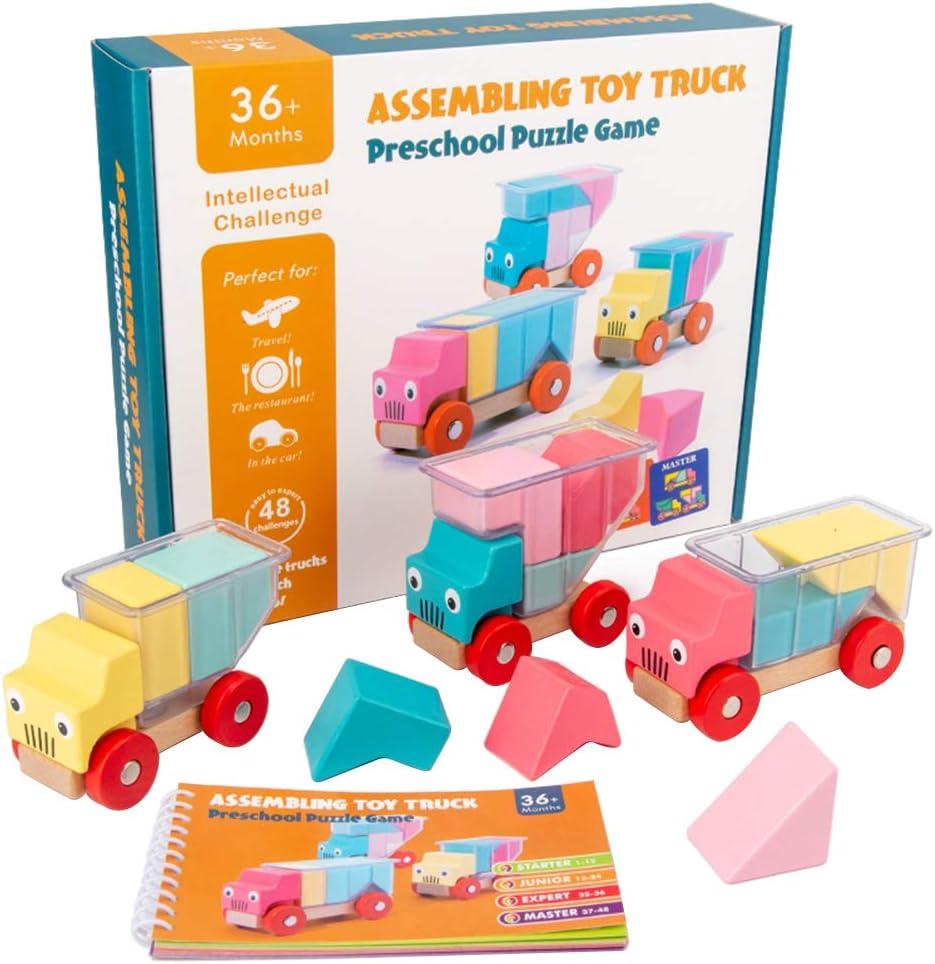 Mankoo Spielzeug ab 3 Jahre Kinder Holz Montage LKW Spielen