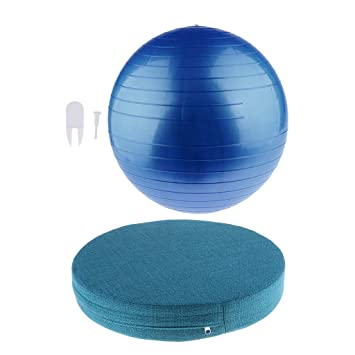 CUTICATE Bola de Ejercicio Pilates Yoga con Tapón de Aire ...