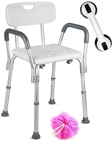 Amazon.com: Dr. Maya - Silla de baño y ducha ajustable con ...