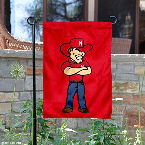 Nebraska Cornhuskers Herbie Mascot Garden Flag
