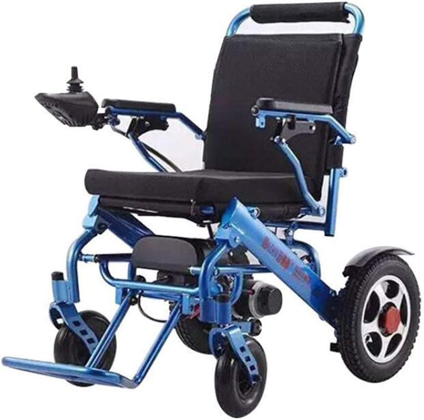 KAD Nuevo Aleación de aluminio Silla de ruedas eléctrica Ligero Batería de litio Plegable Silla de ruedas inteligente Coche Ancianos Discapacitados Plegable Silla eléctrica J h