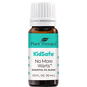 Plant Therapy KidSafe No More Warts Essential Oil Blend 100% Pure, Undiluted, Natural Aromatherapy, Therapeutic Grade 10 mL (1/3 oz)