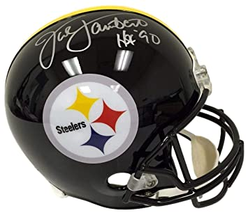 ae65bb446eb Image Unavailable. Image not available for. Color: Jack Lambert Autographed  Signed Pittsburgh Steelers Full Size Replica Autograph Helmet HOF 90  Memorabilia ...