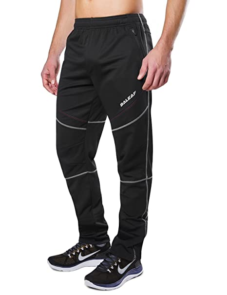 Baleaf Men's Windproof Cycling Fleece Thermal Multi Sports Active Winter  Pants Size S