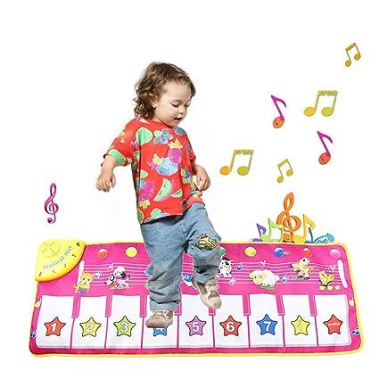 Playmats Musical Piano Baby Crawl Mat Animal Educational Music Soft Kick Playing Pad Toys
