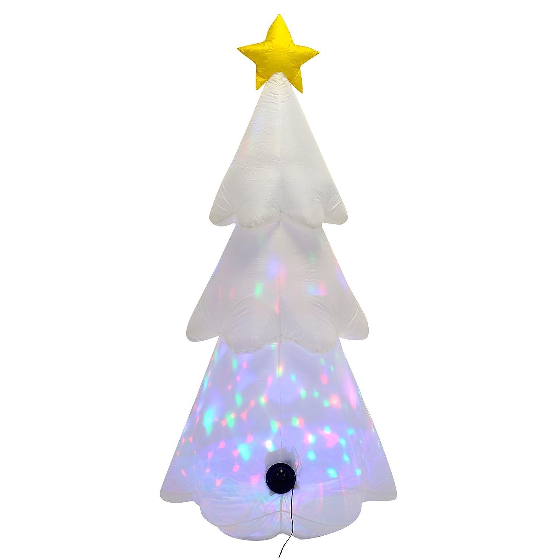 Mr Crimbo New Giant 6ft Inflatable Christmas Tree Multi Colour ...