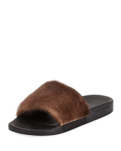 Amazon.com  Givenchy Mink Fur Pool Slide Sandal 0daed58f8