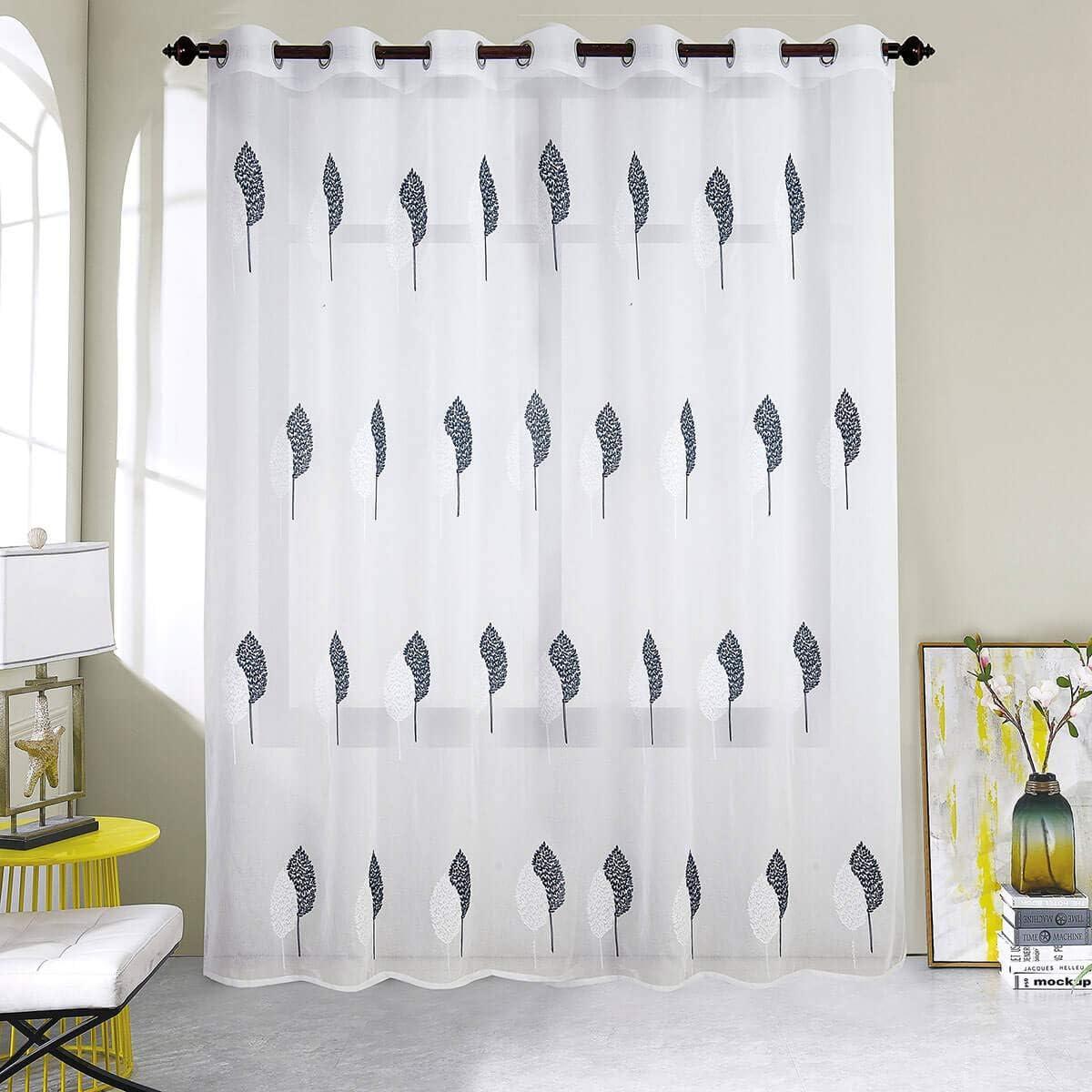 300x240cm Noir Dimensions Best Interior Voilage Grande Largeur Feuille