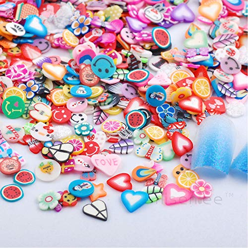 RoseFlower 10000 Pcs 3D Cute Designs Nail Art Canes Sticks Stickers Rods Fruit Pattern Slices Nail Art Stickers Perfect for DIY Crafts, Cellphone Decoration, Nail Art Decoration #3