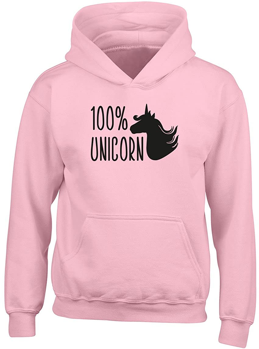 Shopagift Kids 100% Unicorn Childrens Hoodie