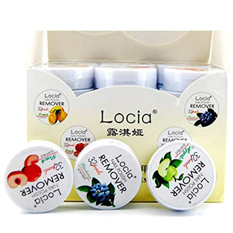Hotaluyt 32pcs / Caja de la Belleza del Clavo Toallitas Sabor de la Fruta quitaesmalte Pad