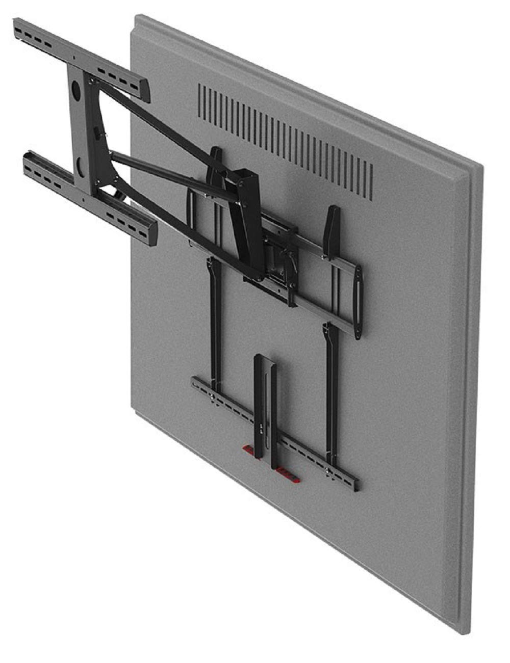 Monoprice Above Fireplace Pull-Down Full-Motion Articulating TV Wall Mount Bracket - for TVs 55in to 100in Max Weight 154lbs VESA Patterns Up to 800x400 Rotating Height Adjustable