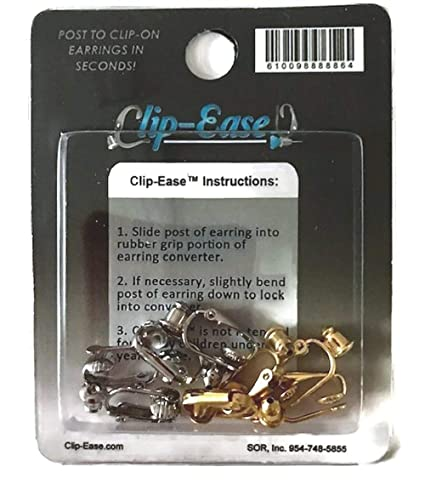 1f16ce050 Amazon.com: Clip-on Earring Converter. Four Pair! Turn Any Post or Stud  Earring Into a Clip-on Earring!: Dangle Earrings: Everything Else