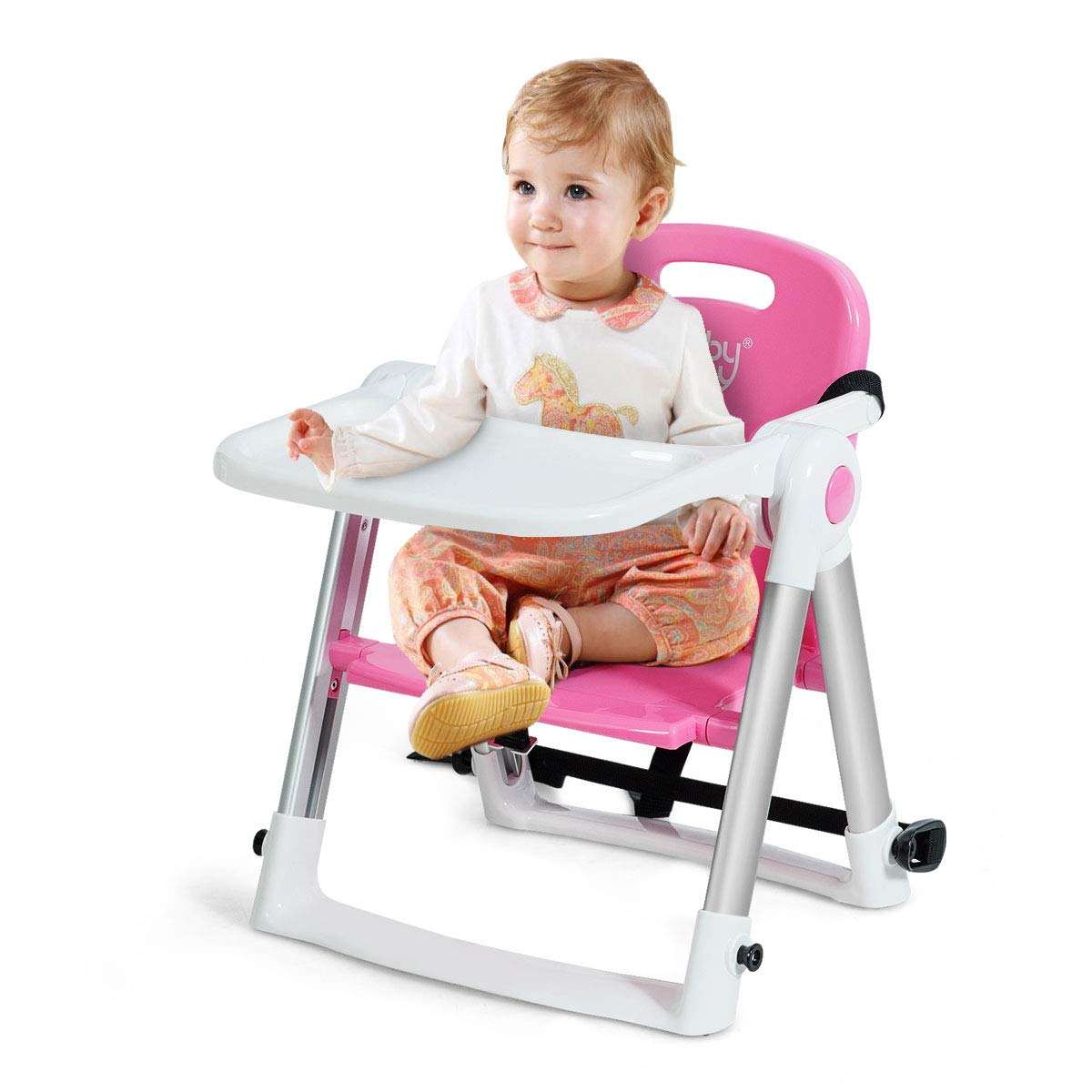 Portable Baby Dinning Booster Seat Travel High Chair Light Weight Chairs 6A