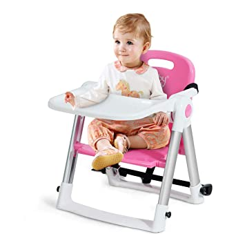 Compact Fold Baby Infant Feeding High Chair Portable Booster Safty Travel Seat