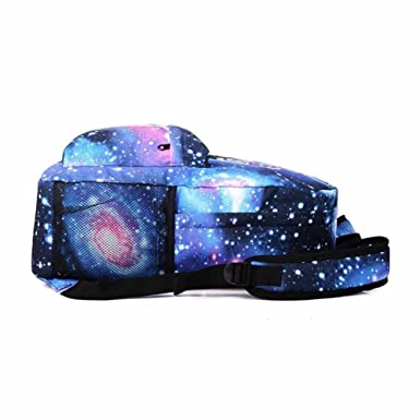 Amazon.com: INLAR Galaxy Pattern Backpack School Bag Noctilucent Music Backpack Collection USB Charger for Girl Women Large Campicity Bookbag(As the ...